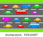 colorful cars | Shutterstock .eps vector #93410407