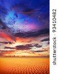 spectacular sunset over the... | Shutterstock . vector #93410482