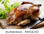 whole roasted chicken | Shutterstock . vector #93416152