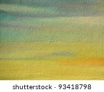 background from a textural oil paint on a board,  fragment of a picturesque picture of artist - stock photo