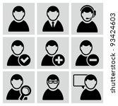 male user avatars icons set. | Shutterstock .eps vector #93424603