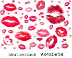 collection of kisses.  kiss... | Shutterstock . vector #93430618