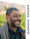 happy arabic man in middle east | Shutterstock . vector #93432625