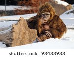 Stock photo bigfoot puppet granby zoo quebec canada 93433933