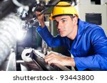 modern industrial machine... | Shutterstock . vector #93443800