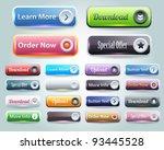 web elements vector button set | Shutterstock .eps vector #93445528