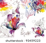 floral abstract background for... | Shutterstock . vector #93459223