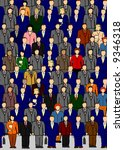 business crowd | Shutterstock . vector #9346318