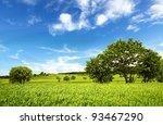 spring landscape | Shutterstock . vector #93467290