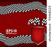red racing checkered background.... | Shutterstock .eps vector #93468223
