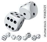 set of dice rolls. vector...   Shutterstock .eps vector #93482425