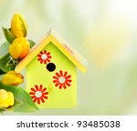 Bright Wooden Nestbox And...