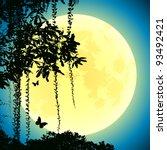 jungle at night | Shutterstock .eps vector #93492421