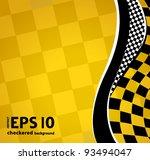 vector checkered racing... | Shutterstock .eps vector #93494047