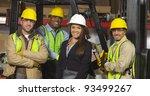 group portrait of industry... | Shutterstock . vector #93499267