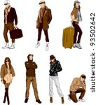 fashion young people | Shutterstock .eps vector #93502642