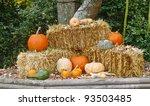 A Fall Display Of Pumpkins On...