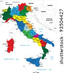 political map of italy | Shutterstock .eps vector #93504427