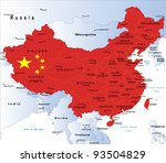 political map of china | Shutterstock .eps vector #93504829