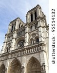Details of Notre Dame de Paris - stock photo