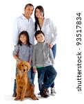 beautiful family with a dog  ... | Shutterstock . vector #93517834