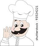 winking cook giving the okay... | Shutterstock . vector #93524221