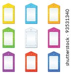 set of shopping labels  tags... | Shutterstock .eps vector #93531340
