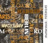 Art Vintage Word Pattern...