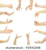 hands | Shutterstock . vector #93541048
