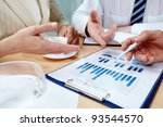 image of human hands pointing... | Shutterstock . vector #93544570