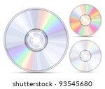 blue ray  dvd or cd disc.... | Shutterstock .eps vector #93545680