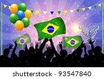 National Celebration Vector  Brazil