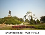 the monument in front of the...   Shutterstock . vector #93549415