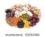 group of beans and lentils... | Shutterstock . vector #93552583