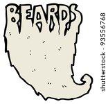 beards word cartoon  raster... | Shutterstock . vector #93556768