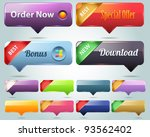 web elements vector button set | Shutterstock .eps vector #93562402