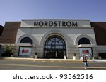PARMUS, NJ - NOV 1: A general view of a Nordstrom department store in Paramus, New Jersey, on Saturday, November 1, 2008. Nordstrom is a major U.S. clothing retailer. - stock photo