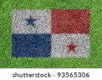 flag of panama as a painting on ... | Shutterstock . vector #93565306