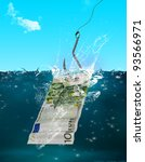 catch of the day  catching 100... | Shutterstock . vector #93566971