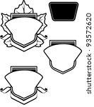 leaf crest | Shutterstock .eps vector #93572620
