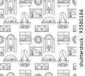 Seamless Pattern With Windows