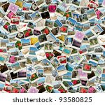 background collage made of... | Shutterstock . vector #93580825