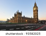 big ben and house of parliament ... | Shutterstock . vector #93582025