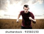 man running with focus | Shutterstock . vector #93583150