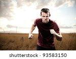 man running with focus | Shutterstock . vector #93583150