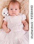 view of a newborn baby on a... | Shutterstock . vector #93584440