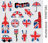 collection of great britain... | Shutterstock .eps vector #93587281