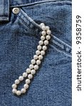 Denim And Pearls.  Strand Of...