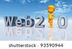 web 2.0 computer generated 3d... | Shutterstock . vector #93590944