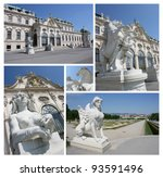 collage of famous belvedere... | Shutterstock . vector #93591496